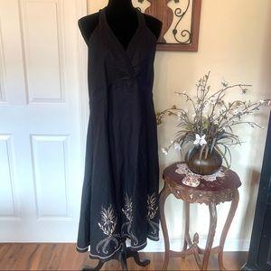 NWT Ashley Stewart Black Fit & Flare Midi Dress 2X